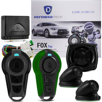 Alarme Defender Tech Fox Automotivo Carro Universal Verde