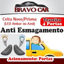 Kit Vidro Elétrico Celta Prisma 4 Portas Traseiro Anti Esmag