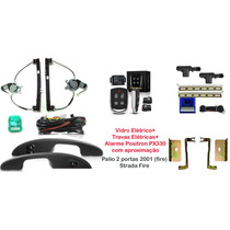 Kit Palio Fire 2 Portas - Alarme Px 330 + Vidros + Travas