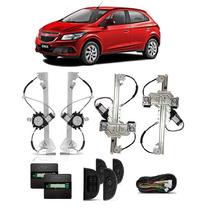 Kit Vidro Eletrico Onix 4 Portas +trava+alarme Positron