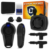 Kit Alarme Defender Tech Fox Top + Trava Eletrica 2 Portas