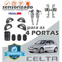 Kit Vidro Elétrico Celta 2003 Para As 4 Portas - Sensorizado
