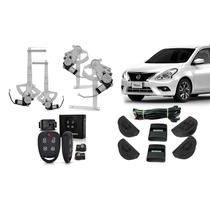 Kit Vidro Elétrico Nissan Versa 4 Portas Completo + Alarme