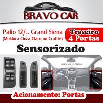 Kit Vidro Elétrico Grand Siena 4 Portas Traseiro Sensorizado