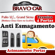 Kit Vidro Elétrico Grand Siena 4 Portas Traseiro Anti Esmag