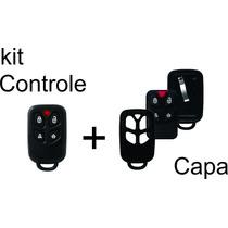 Kit Controle Positron Px 40 4 Botões + Capa Carcaça Px 40