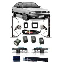 Kit Vidro Elétrico Gol Quadrado Sensorizado + Trava Elétrica