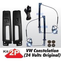 Kit Vidro Eletrico Caminhão Vw Constelation Original 24v