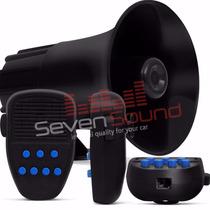 Sirene Automotiva 7 Tons Tech One Microfone Polícia Bombeiro