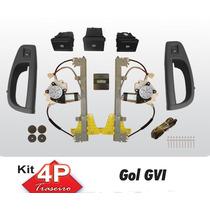 Kit Vidro Eletrico Gol G6 4p Traseiro Com Antiesmagamento