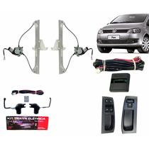 Kit Vidro Elétrico Fox Novo 2 Portas + Trava Elétrica