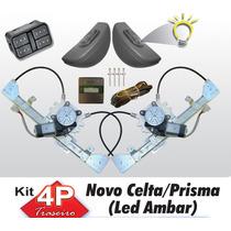 Kit Vidro Eletrico Celta Prisma 4 Portas Traseiro