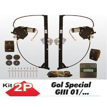 Kit Vidro Eletrico Gol G3 Special 2 Portas Sensorizado