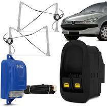 Kit Vidro Eletrico Peugeot 206 207 Sensorizado 2 Portas Dial