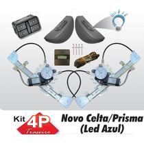 Kit Vidro Eletrico Celta 2012 Traseiro Com Antiesmagamento