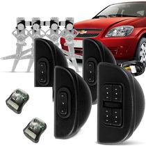 Kit Vidro Eletrico Celta 99 2011 Prisma Sensorizado 4 Portas