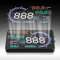 Hud Display 5.5 Universal Velocidade Carro Computador Bordo