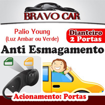 Kit Vidro Elétrico Palio Young 96 A 99 2 Portas Anti Esmag