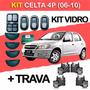 Kit Celta Vidro + Trava Elétrica 4p 2006-2010 Gmse014 + Tp4