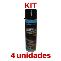Kit 04 Limpa Ar Condicionado Automotivo 300ml M500 Com Sonda