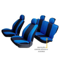 Capas Protetora De Bancos Automotivos Azul C/ Preto