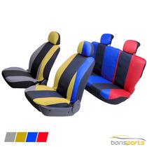 Capa Banco Carro Universal Cores Cinza Vermelho Amarelo Azul