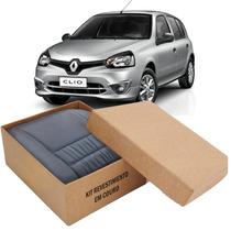 Kit Capas De Banco 100% Em Couro Original Renault Clio