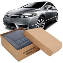 Kit Capas De Banco 100% Em Couro Original Honda New Civic