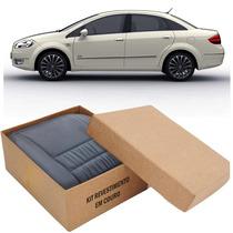 Kit Capas De Banco 100% Em Couro Padrão Original Fiat Linea