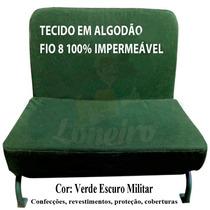 Tecido Verde Militar Banco Jipe 5x1,57 Lona Pano De Algodão