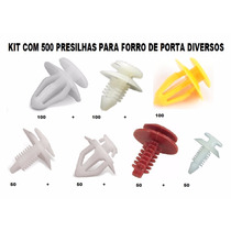 Presilhas Forro De Porta Corsa Uno Gol Fiesta Kit 500 Pçs
