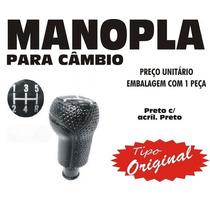 Manopla Cambio Tipo Original Fiesta Ka - Preto Preto
