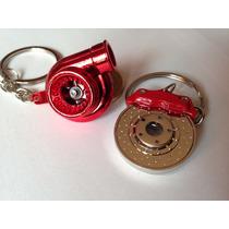 Chaveiros Turbina Motor Red + Disco Pinça De Freio Turbo