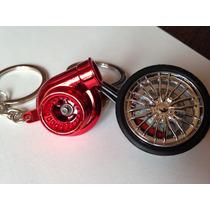 Chaveiros Turbina Red + Roda Esportiva Com Disco Pinça Red