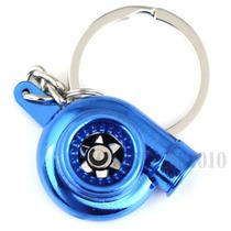Chaveiro Turbina Azul Metal Motor Turbo Tuning Frete Grátis