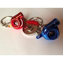 Chaveiros Turbinas Red + Azul + Disco Pinça De Freio Turbo