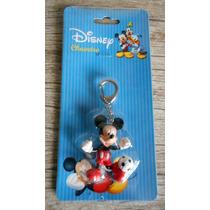 Chaveiro - Mickey Mouse Futebol - Borracha - Original Disney
