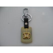 Chaveiro Honda Logo Metal + Couro