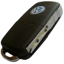 Chave Canivete Original Vw + Placa Para Positron Com Chip !!