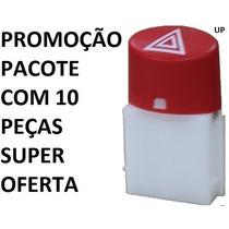Kit Com 10 Botões Do Pisca Alerta Palio Siena 2008 A 2014