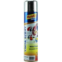 Tinta Spray Cromado 400ml Mundial Prime Seca Rápido Multiuso