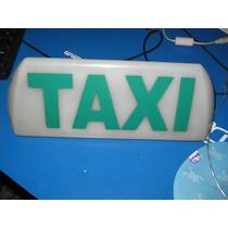 Luminoso Taxi Branco Antigo Para Decoraçao C/ Base 12 V