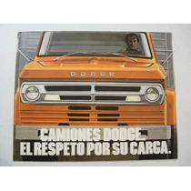 Brochura De Venda Caminhões Dodge Argentina
