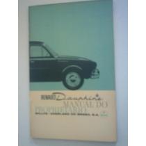 Renault Dauphine Willys Manual Do Proprietário Original