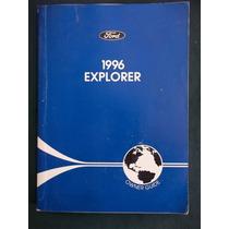 Manual De Proprietário Ford Explorer 1996 Original