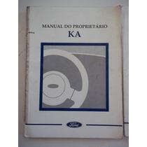 Manual Ford Ka 1998 Manual Do Proprietário Original
