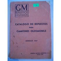 Manual De Peças Caminhões Oldsmobile 1937 Em Espanhol
