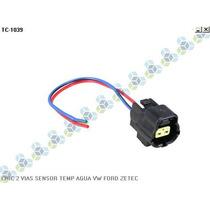 Chicote 2 Vias Sensor Temperatura Agua Volkswagen Ford Zetec
