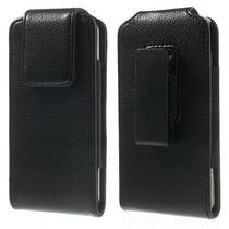 Capa Premium Em Couro Com Clip De Cinto P/ Iphone 6