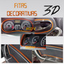 Fitas Decorativas Veiculares 3d Friso Interno Carro Laranja